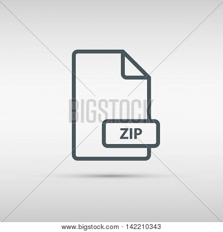 ZIP archive file format line icon. Vector illustration.