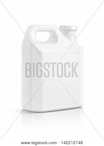 blank packaging white plastic gallon isolated on white background with clipping path