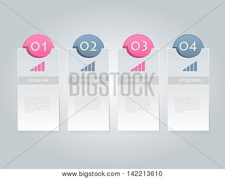 Business Infographics Tabs Template For Presentation, Education, Web Design, Banner, Brochure, Flyer