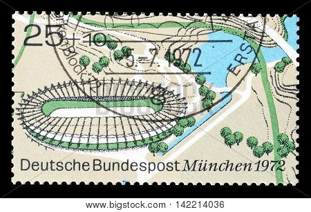GERMANY - CIRCA 1992 : Cancelled postage stamp printed by Germany, that shows Velodrome.