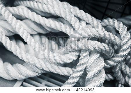 White Nautical Rope Bundle, Close Up