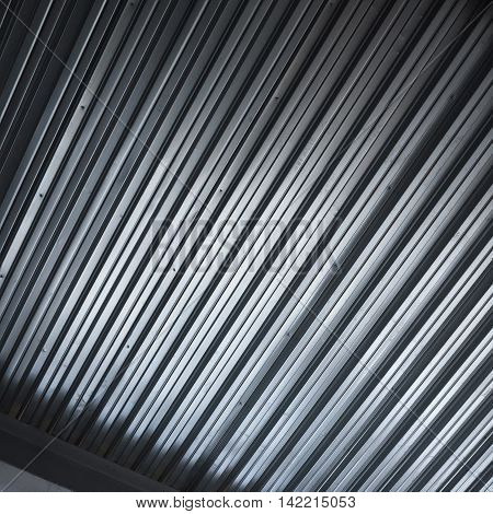Shining Corrugated Metal Background