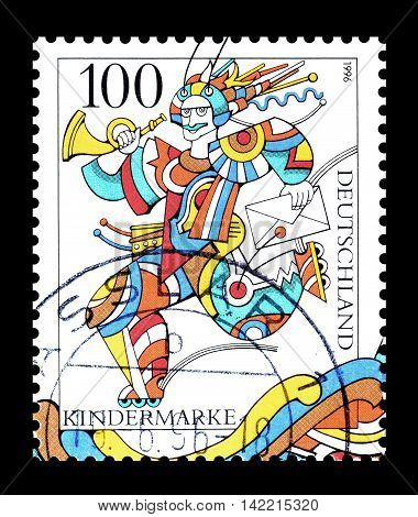 GERMANY - CIRCA 1996 : Cancelled postage stamp printed by Germany, that shows cartoon character.