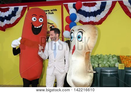 LOS ANGELES - AUG 9:  Nick Kroll, Characters from movie at the