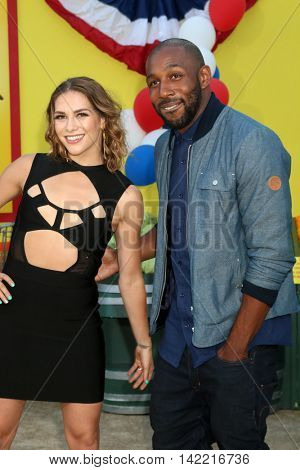 LOS ANGELES - AUG 9:  Allison Holker, Stephen Boss at the