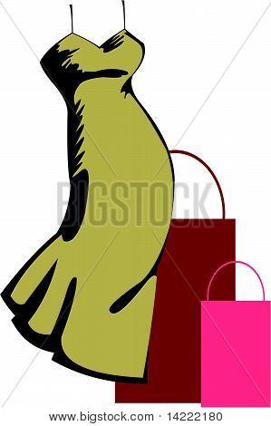 Shopping dress