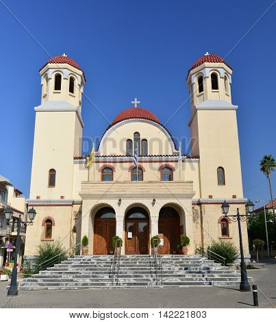 Rethymno city Greece Martyr church landmark architecture