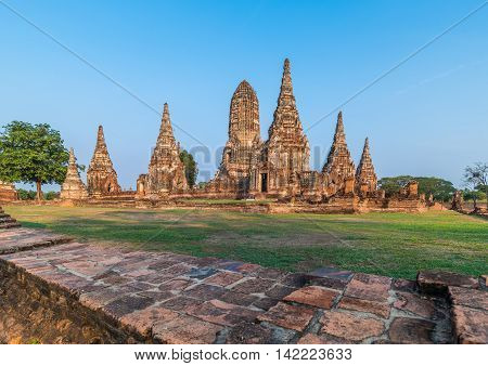 Wat Chaiwatthanaram in Ayutthaya Province, Thailand ( Old capital )