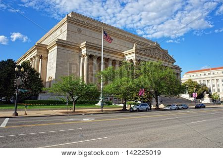 National Archives Building In Washington Dc