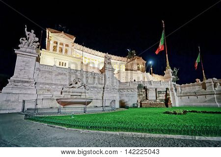 National Monument To Victor Emmanuel In Rome In Italy