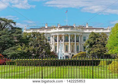White House In Washington Dc The Usa