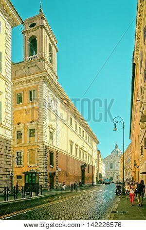 Sant Andrea Della Valle Church In Corso Del Rinascimento Street