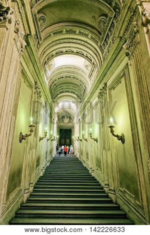 Staircase In Saint Peter Basilica In Vatican In Italy