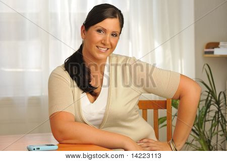 Attractive Plus Model Sitting