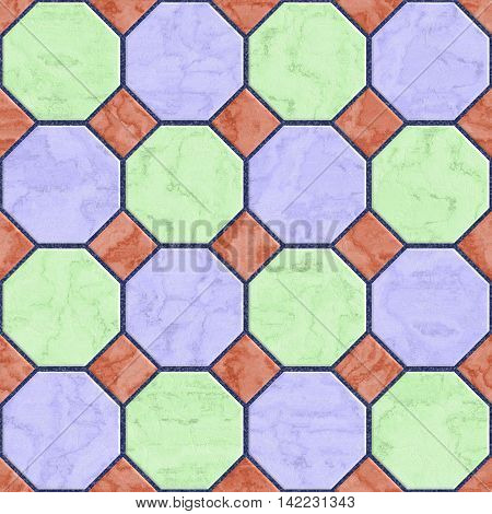 Floor tiles seamless generated hires texture, 3D illustration