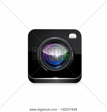camera vector icon on white background 10 eps.