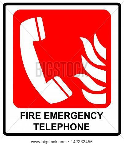 Vector fire emergency telephone icons. Signs of evacuations. Emergency call. Informational sticker for public places