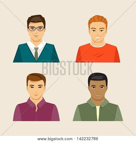 Collection of men of different appearance and nationality