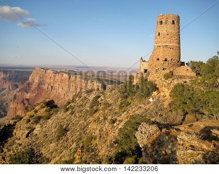 Indian Watchtower at Desert View located on the South Rim of the Grand Canyon National Park (Arizona, USA).