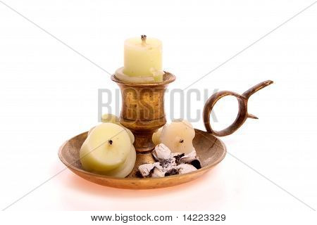Candle Used As An Ashtray