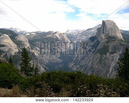 The Half-Dome in Yosemite National Park (California, USA)