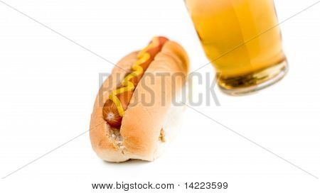 Hotdog And Beer Long View