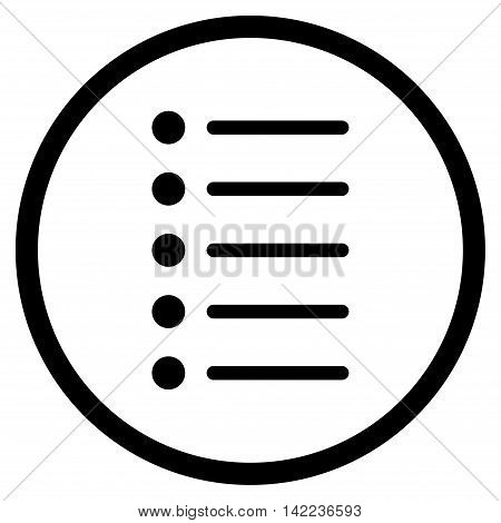 Items vector icon. Style is flat rounded iconic symbol, items icon is drawn with black color on a white background.