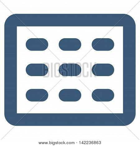 Table Grid vector icon. Style is outline flat icon symbol, blue color, white background.