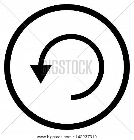 Rotate Ccw vector icon. Style is flat rounded iconic symbol, rotate ccw icon is drawn with black color on a white background.