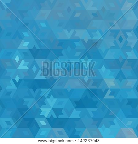 abstract geometric blue ocean seamless background with colored triangles for textile, backdrop or banner