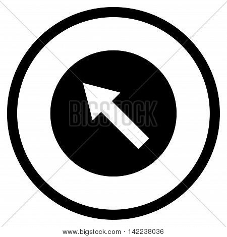 Up-Left Rounded Arrow vector icon. Style is flat rounded iconic symbol, up-left rounded arrow icon is drawn with black color on a white background.