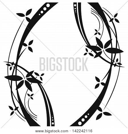 Abstract floral pattern, graphic pattern, tattoo pattern, print pattern, mirror pattern, ornamental pattern. Vector.