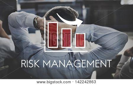 Risk Management Diagram Graph Arrow Concept