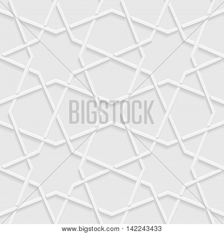 Abstract background with geometric shapes. Vector illustration. Seamless white and gray background light and shadows.
