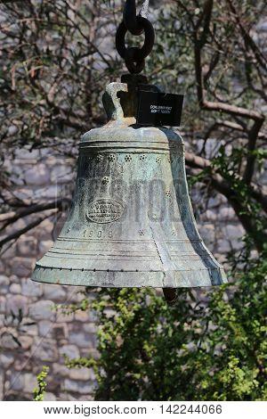 Bell in Bodrum Castle Aegean Coast of Turkey