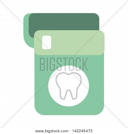 floss dental isolated icon vector illustration, eps10