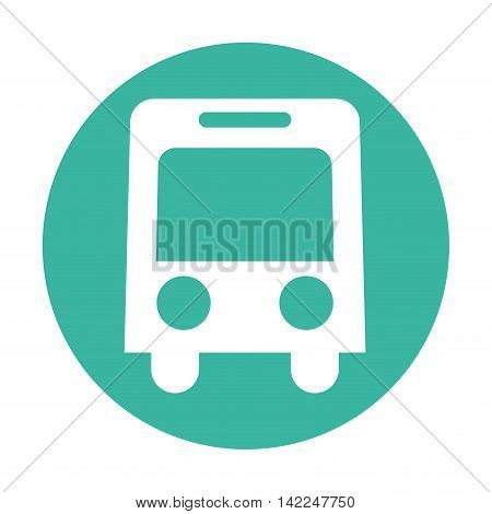 bus service public isolated vector illustration, eps10