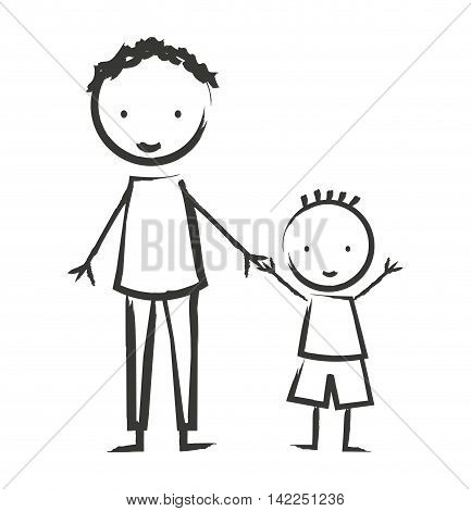 family members isolated icon vector illustration design