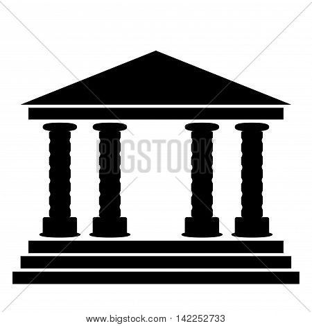 blank for design. Building silhouette with columns