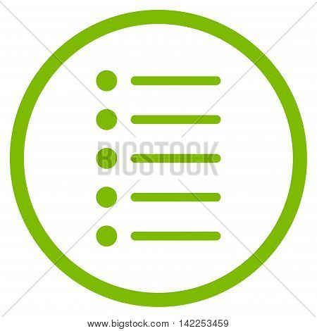 Items vector icon. Style is flat rounded iconic symbol, items icon is drawn with eco green color on a white background.