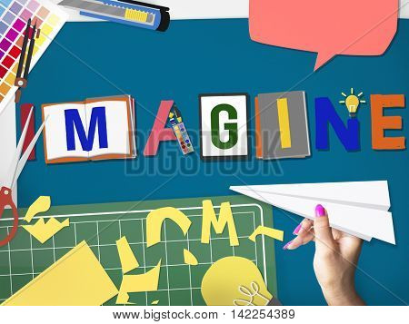 Imagine Planning Creative Imagination Concept