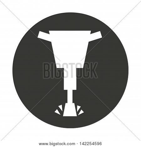 hammer hydraulic isolated icon vector illustration design
