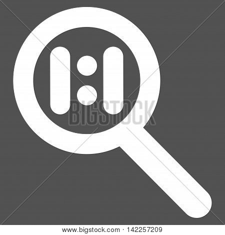 Zoom Actual Scale vector icon. Style is linear flat icon symbol, white color, gray background.