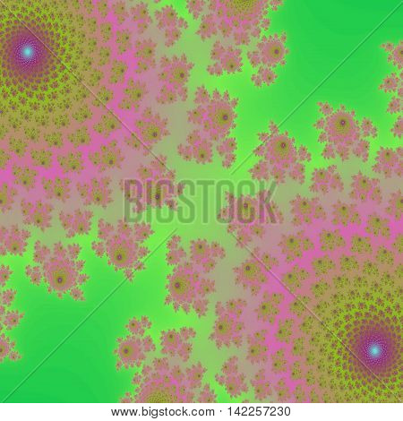 Fresh spring floral abstract fractal backgroung suitable for beauty theme