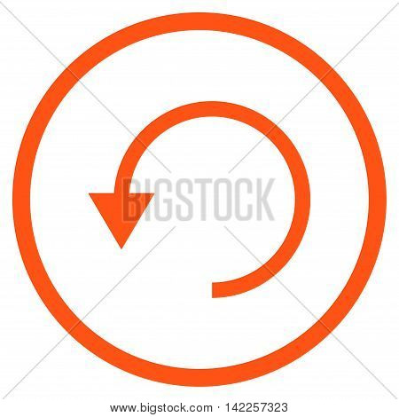 Rotate Ccw vector icon. Style is flat rounded iconic symbol, rotate ccw icon is drawn with orange color on a white background.