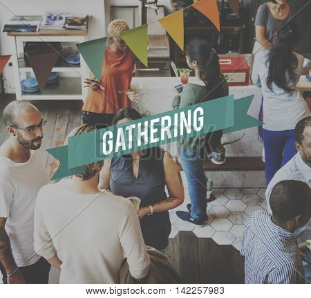 Get Together Gathering Support Teamwork Concept