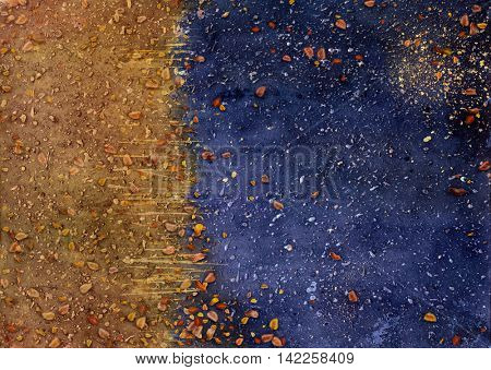 Autumn abstract watercolor background