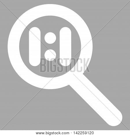 Zoom Actual Scale vector icon. Style is outline flat icon symbol, white color, silver background.