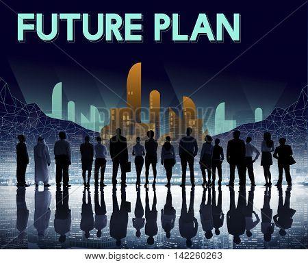 Furutistic Future Plan Urban Structure Concept