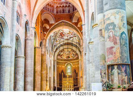 Cathedral Of Santa Maria Assunta E Santa Giustina In Piacenza. Italy.